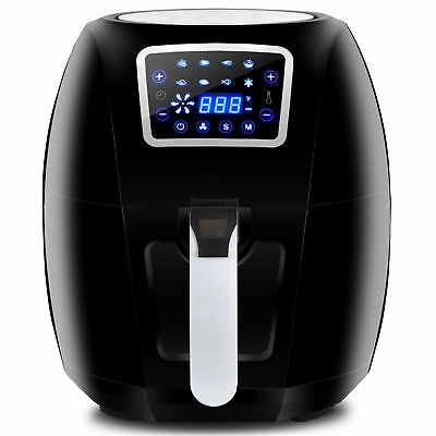 1700W Extra Large Deep Air Fryer LCD Display Temperature Control 6-3Qt 8 Presets
