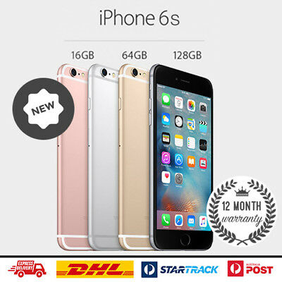 NEW Apple iPhone 6S 16GB 32GB 64GB 128GB Smartphone 4G 100 Unlocked 12 Mth Wty