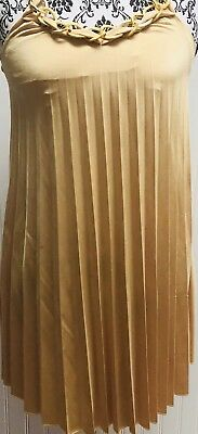 WET SEAL Womens Gold Slleevless Party Cocktail Club Evening Dress Sz xsmall xs