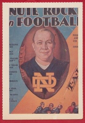 1981 Knute Rockne SMITHSONIAN INSTITUTE CARD NOTRE DAME