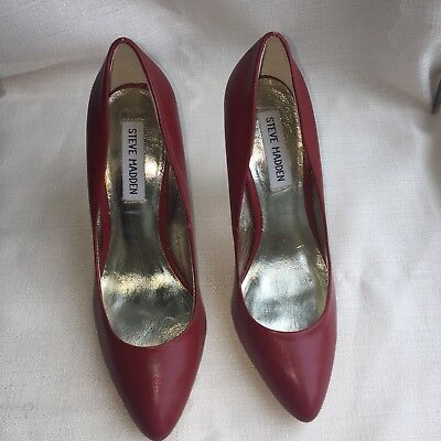 Steve Madden Daisie Red Leather Heel Pump Womens Dress Shoes- Size 7