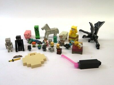 1 lbs Lot of Unsorted Minecraft Toys Figures Building Pieces - LOT