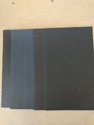 Sandpaper 5 12 x 9 Combo WET OR DRY  1500 2000 2500 3000 5000 grits 5 pc-