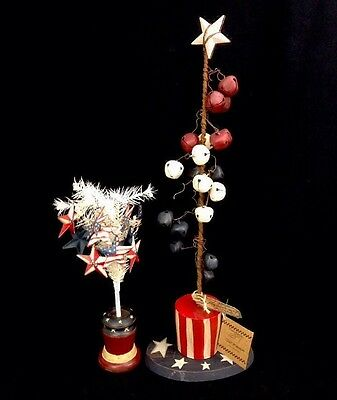 Primitive By Janet Burzenski Fourth Of July Let Freedom Ring And Liberty Trees