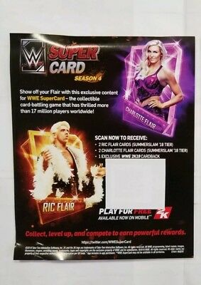 WWE 2K19 Ric Flair - Charlotte SuperCard Content Only NEW