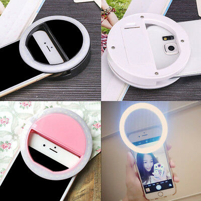 Portable Clip Fill Light Selfie LED Ring Photography for Android Phone Rapture