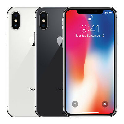 Apple iPhone X 64GB Factory Unlocked 4G LTE iOS WiFi 12MP Camera Smartphone