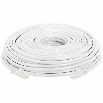 100 FT White RJ45 CAT6 Ethernet LAN Network Cable Patch Cord For PC Laptop PS4