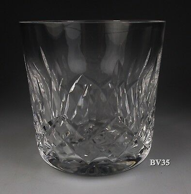 WATERFORD CRYSTAL LISMORE OLD FASHIONED GLASS 3 38 - 9 oz TUMBLERS - EXCELLENT