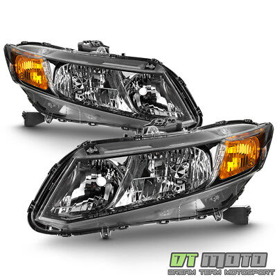 For 2012-2015 Honda Civic 4Dr Sedan Headlights Headlamps Replacement Left-Right