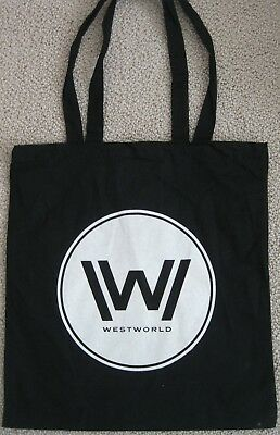 WESTWORLD HBO PROMOTIONAL PROMO BLACK TOTE BAG