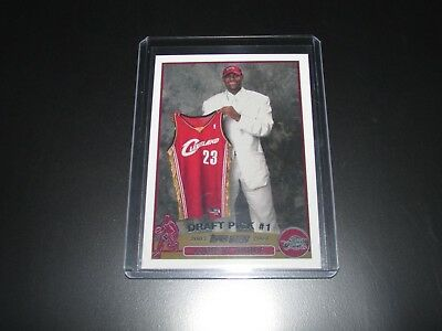 2003-04 TOPPS LeBRON JAMES ROOKIE REPRINT CAVALIERS 221 NOVELTY