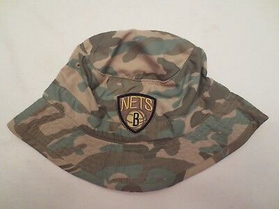 MITCHELL - NESS NBA BROOKLYN NETS AMBUSH BUCKET HAT CAP SIZE LXL CAMO NWT