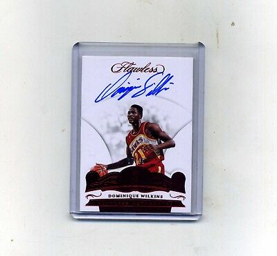 2017-18 Panini Flawless Bask- Dominique Wilkins Ruby Autograph 715