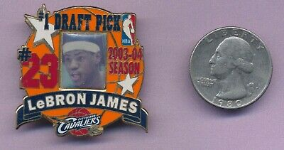 Lebron James 1st Draft  Pick licensed Pin Cleveland Cavaliers