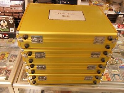 Panini Flawless Football Gold Suitcase lot of 4 wKeys and foam-Nice conditon