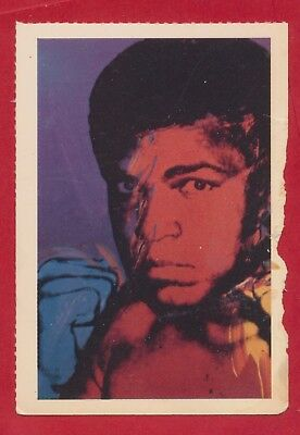 1981 Muhammad Ali Smithsonian Institute Trading Card Andy Warhol