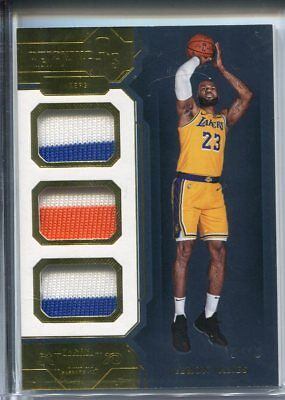 2018-19 Dominion LEBRON JAMES GOLD PATCH 10 LAKERS