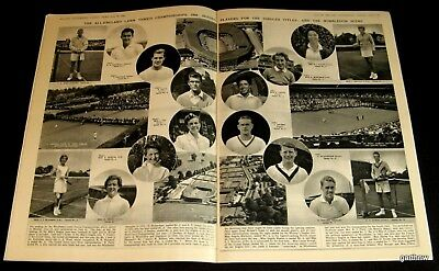 WIMBLEDON 1956 COURTS - COMPETITORS PICTORIAL LEW HOAD SHIRLEY FRY ALTHEA GIBSON