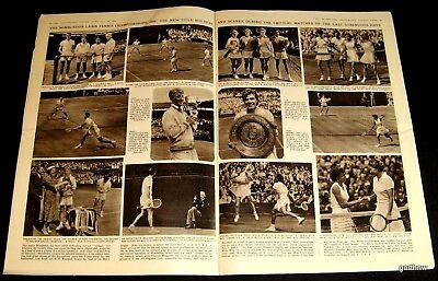 WIMBLEDON 1956 NEW CHAMPIONS PICTORIAL LEW HOAD SHIRLEY FRY ALTHEA GIBSON