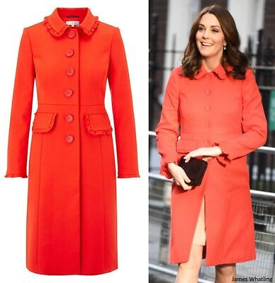 BNWT Boden Red Coat Kate Middleton Duchess Cambridge sz uk12  US 8 EU 40