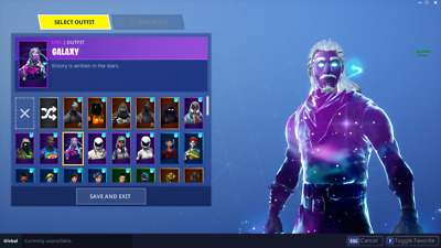 Fortnite GALAXY SKIN  RAVEN  DARK VANGUARD  PC  XBOX  PS4  MOBILE