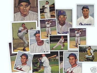 1950 Bowman Reprint half set 160 cards with 18 Hall Of Famers Jackie Robinson