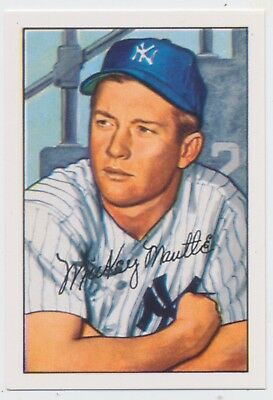 1952 New York Yankees Bowman Team complete Repro Set Mickey Mantle - T205 STARs
