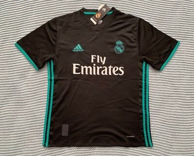 Cristiano Ronaldo Real Madrid New Men's Away Black Soccer Jersey - Size L
