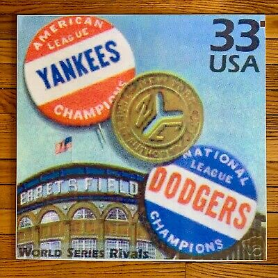Brooklyn Dodgers  New York Yankees World Series  Subway Poster Ebbets field