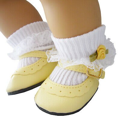 Yellow Shoes - Rosebud Socks for Bitty Baby Doll Clothes High Quality