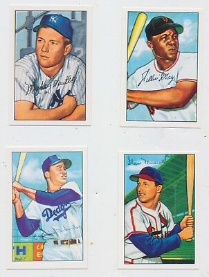 1952 Bowman BASEBALL 100 Repro INCLUDES  MICKEY MANTLE  STAN MUSIAL DUKE SNIDER