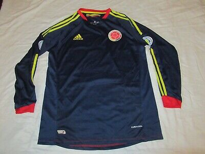 Mens Adidas 2014 Colombia World Cup Long Sleeve Soccer Jersey Adult Size XL