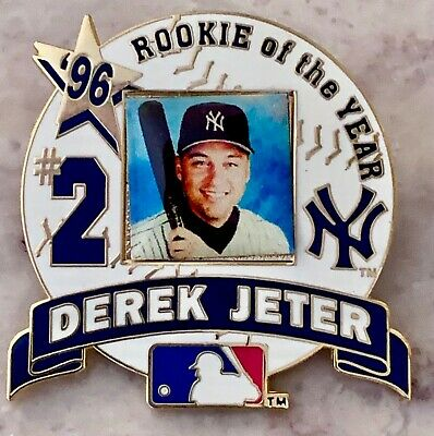 2 Derek Jeter Pins MVP 2000 All Star  Rookie New York Yankees  - Mickey Mantle
