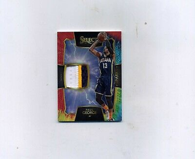 2015-16 Select Basketball Paul George 3 Color Patch 1325-JERSEY