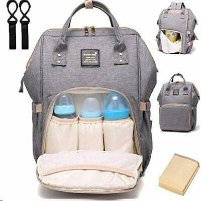 Mummy Maternity Diaper Bag Backpack Baby Nappy Trave Gear Waterproof Large Girls