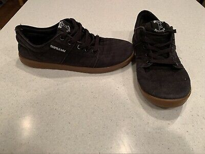 SUPRA Terry Kennedy Stacks Mens Black Gum Skateboard Shoes Size 9