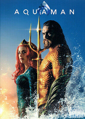 Aquaman - Jason Momoa Amber Heard DVD 2019 New And Sealed