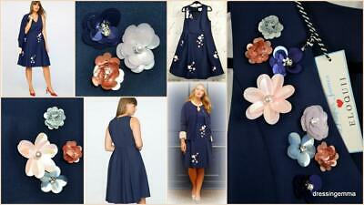 New Draper James X Eloquii Reese Witherspoon fit flare floral plus size dress 14