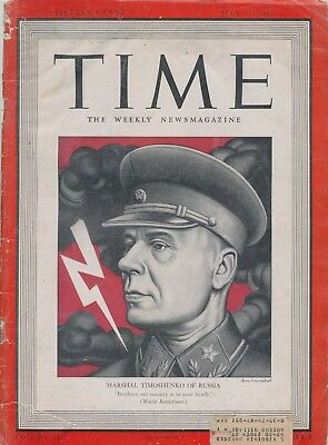 2 Time Mags Timoshenko July 271942 Time Eisenhower Chief of Staff June 2349