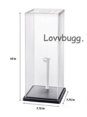 2 x Display Case For Doll Or Collectibles18 X 7-34 X 7-34  2 Free Stand s