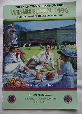 Wimbledon 1996 Lawn Tennis Championships June 27th Fourth Day Official Program
