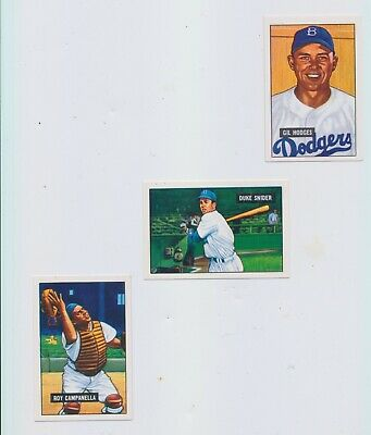 1951 Brooklyn Dodgers Bowman 20 card Reprint Set - Jackie Robinson Rookie Card