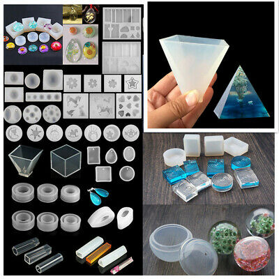 Lot DIY Craft Resin Casting Molds Kit Silicone Mold Making Jewelry Pendant Mould