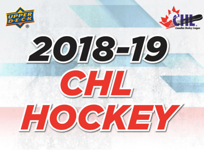 2018-19 Upper Deck CHL Hockey Cards Pick From List Base Cards 1-200