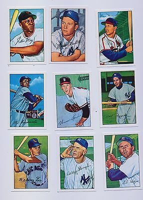 1952 Bowman Baseball  Reprint Set 252 Cards  Collectors Box Mickey Mantle