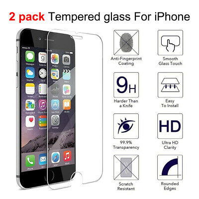Premium Real Tempered Glass For Cell iPhone 66s7 iPhone Plus Screen Protector