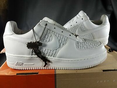 2003 Nike Air Force 1 Lux  LE White Made in Italy  305818111 Size 9 NIB A3