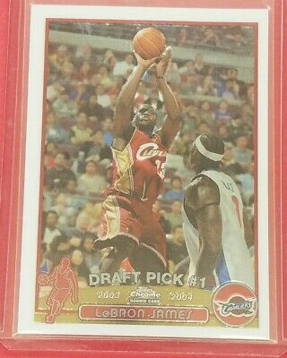 2003-04 Topps Chrome 111 LeBron James Cleveland Cavaliers RC Rookie