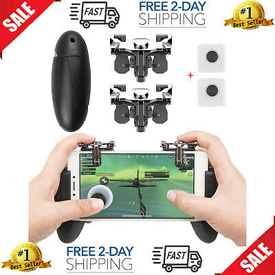 Mobile Game Controller Phone Grip Triggers Joystick Fortnite PUB G iOS Android